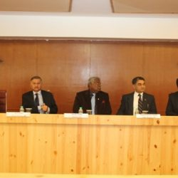 Dr Misra with the CBI Director Ranjit Sinha, Deputy Director, Additional Director and other officials in the panel to discuss sports corruption and police cooperation