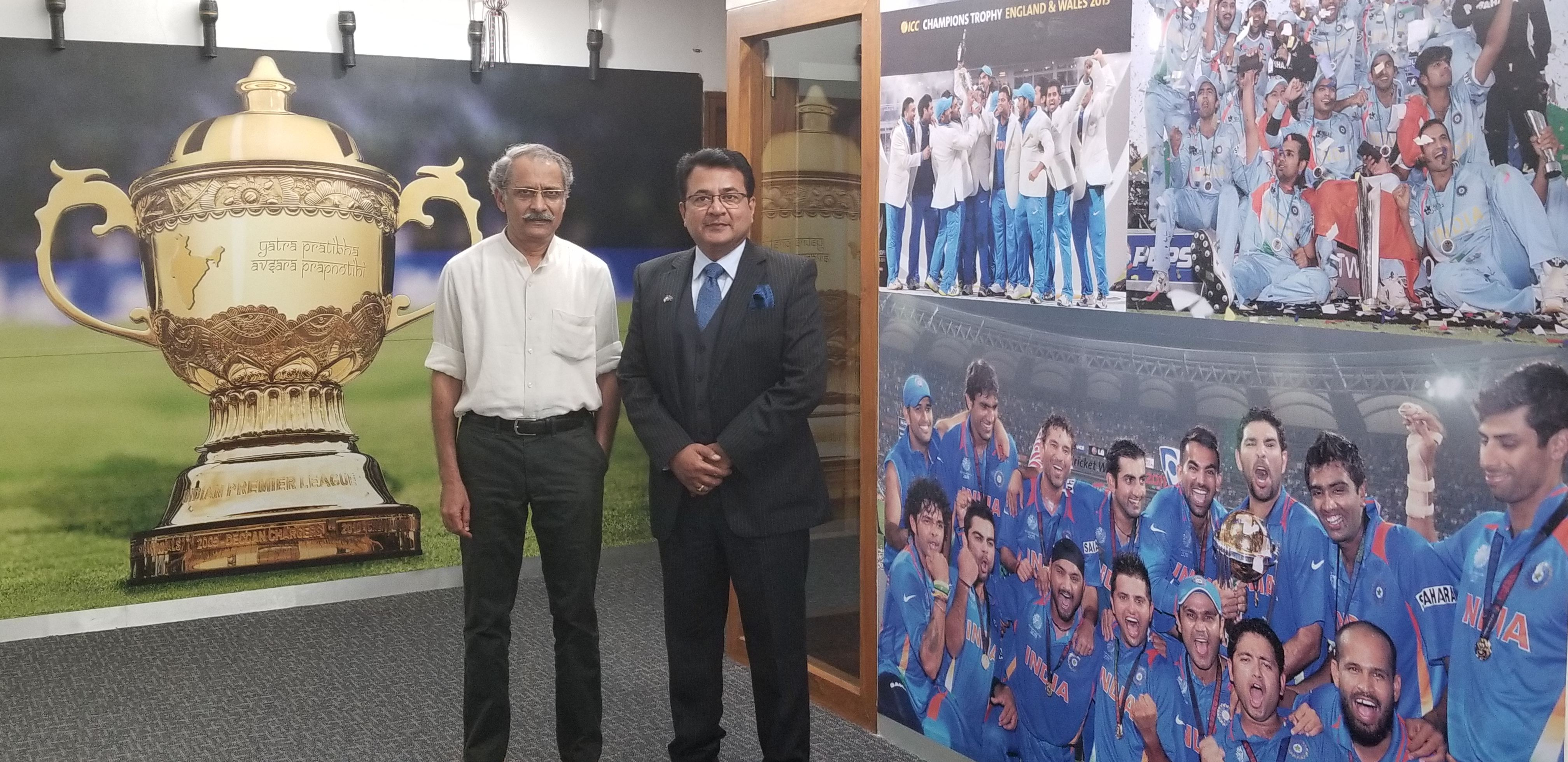 Interaction with Ajit Singh Head of Anti Corruption Unit Board of Control for Cricket in India