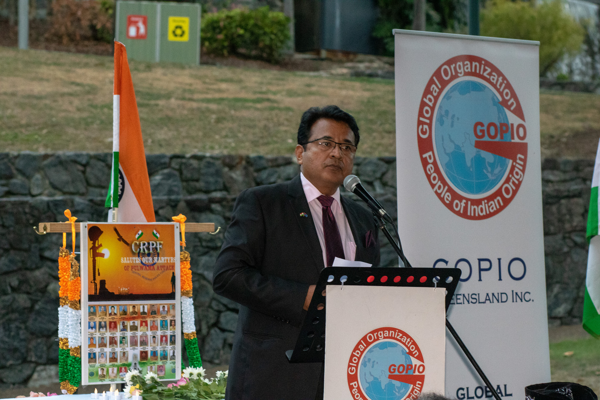 Speaking at a Memorial Service for the martyred Indian security personnel in Kashmir