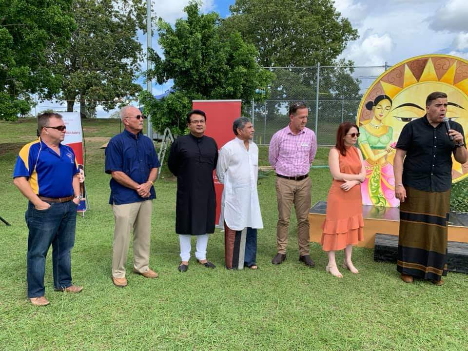Speaking at the Sri Lankan New Years celebrations with Milton Dick Federal MP, Jessica Pugh QueenslandMP, Paul Newbury, Sri Lankan Honorary Consul, and Anu Perera