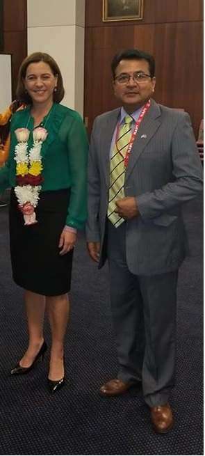 With Deborah Frecklington, Leader of the Opposition at the Queensland Parliament