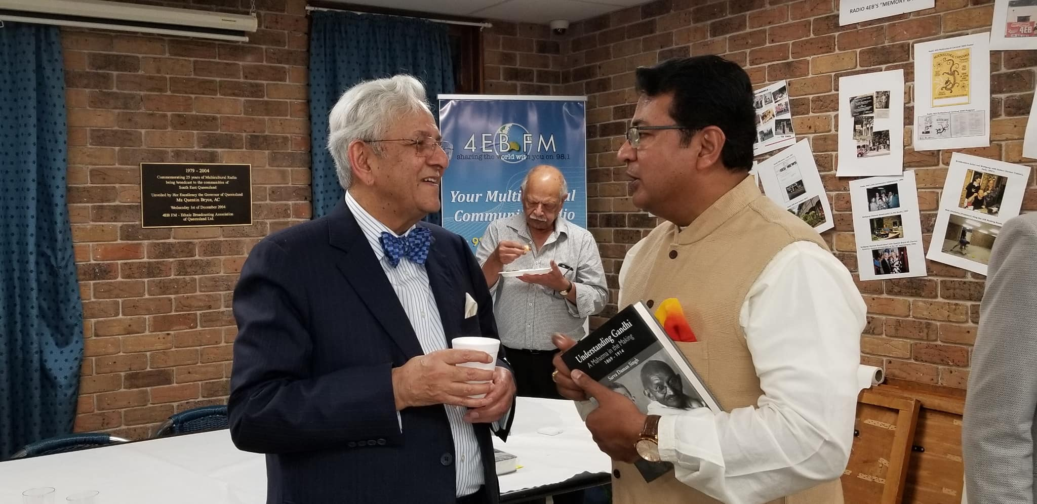 With Prof Sarva Daman Singh at his book launch entitled Understanding Gandhi