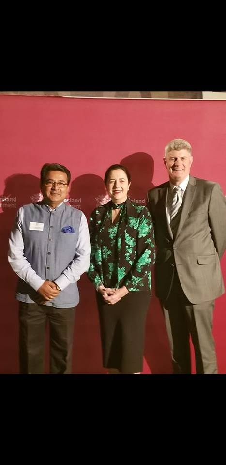 With Queensland Premier Hon. Anastacia Palaszczuk and Hon Sterling Hinchliff, Minister for Local Government, Minister for Racing and Minister for Multicultural Affairs