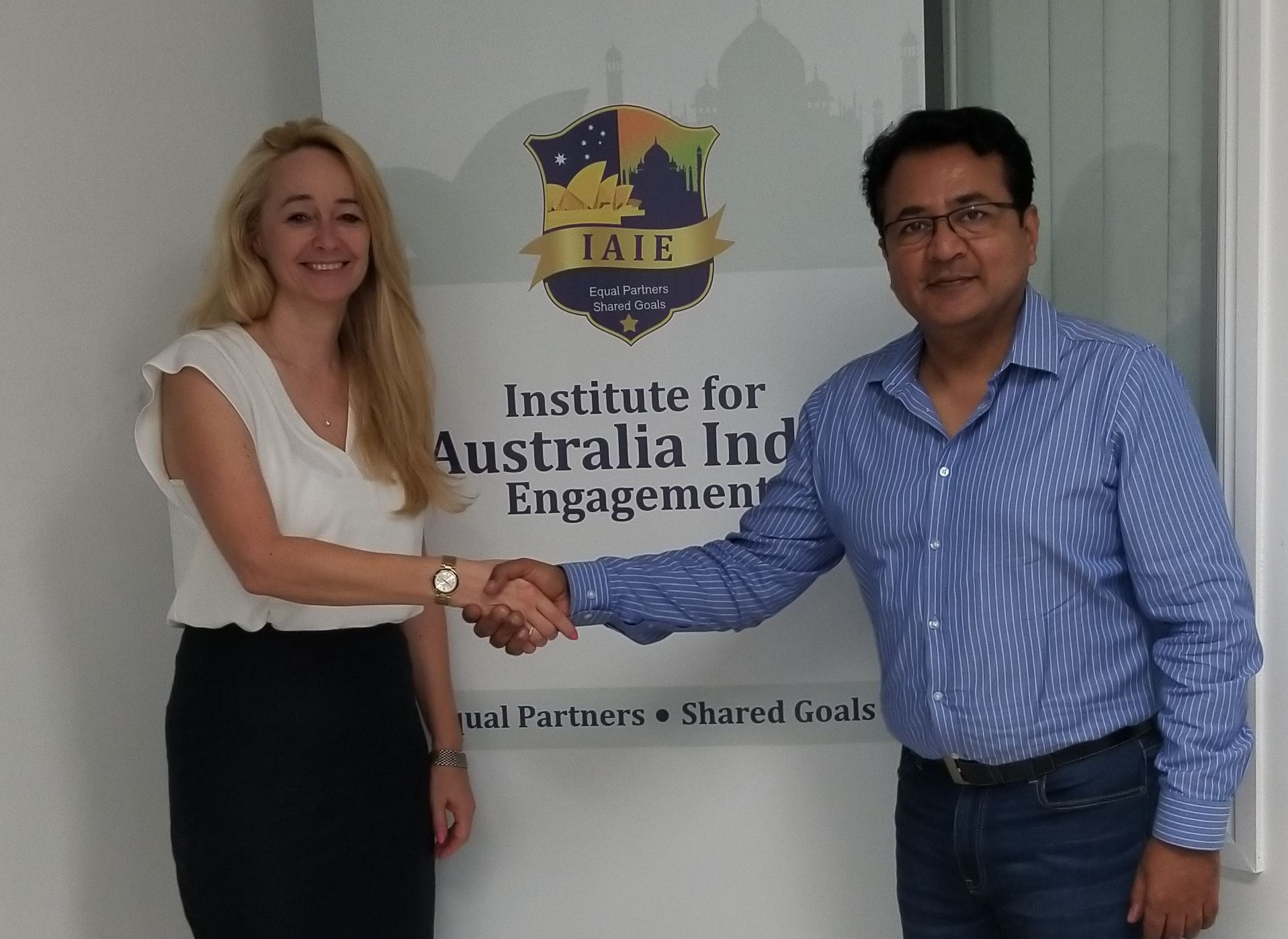 With Sandra Deithelm former Queensland's Trade and Investment Commissioner for India