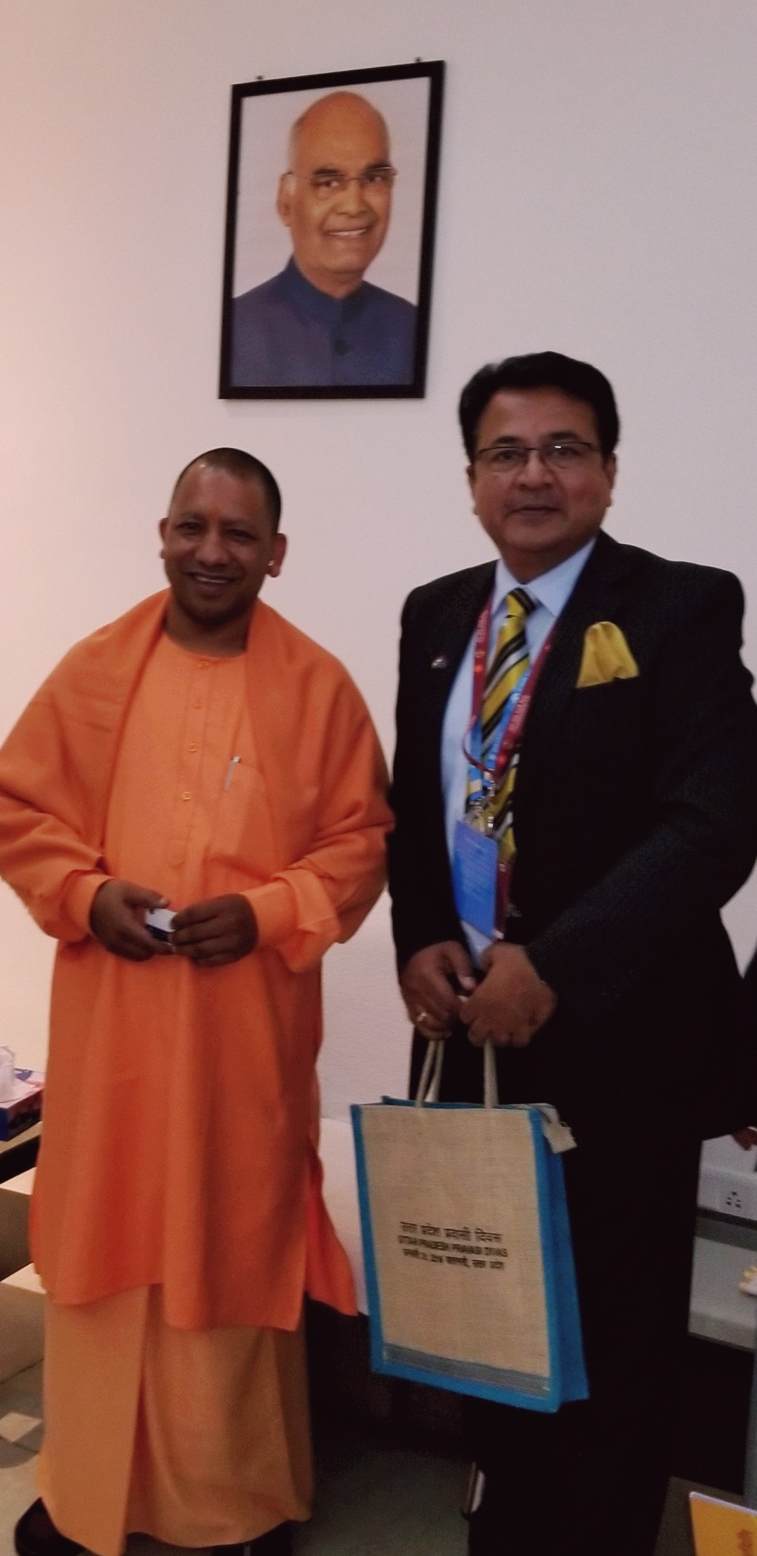 With Uttar Pradesh Chief Minister Yogi Adityanath