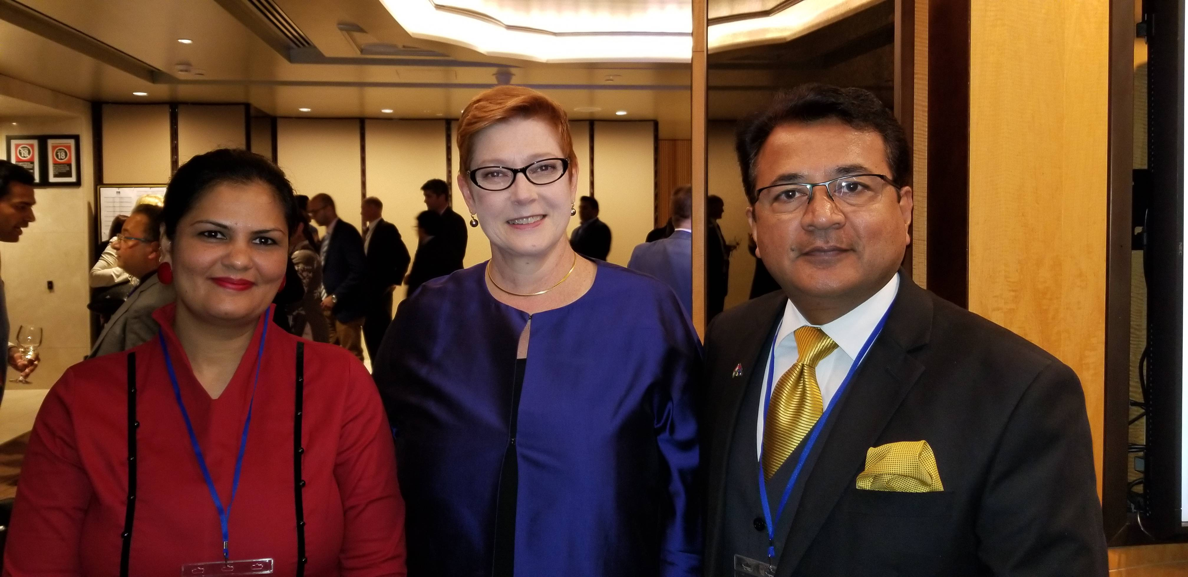 With the Hon Marise Payne Minister for Foreign Affairs and Minister for Women