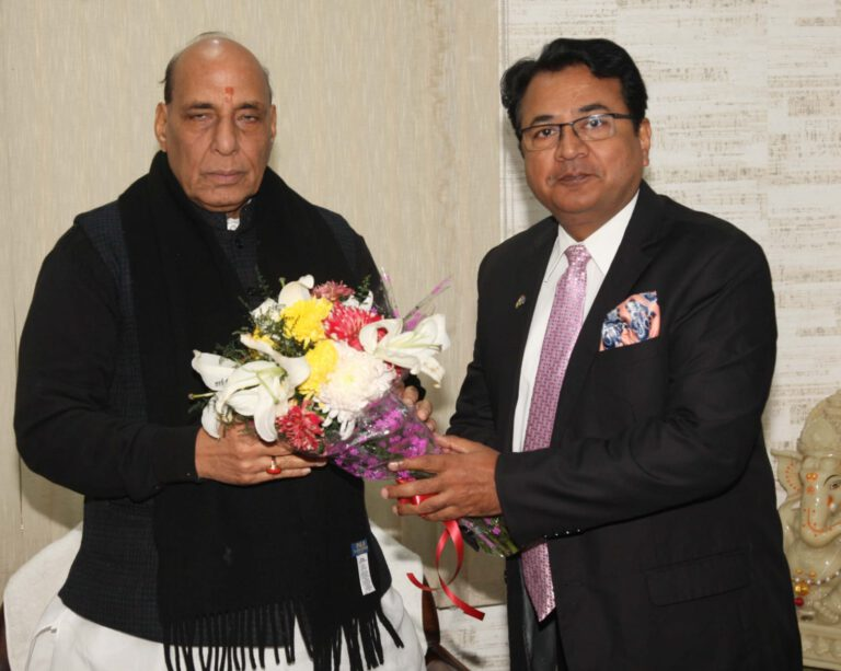 With Indian Defence Minister Sri Rajnath Singh
